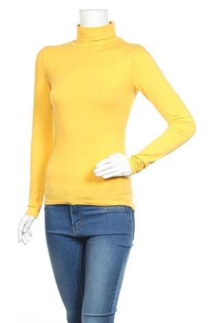 Helancă de femei Amisu, Mărime S, Culoare Galben, 47% bumbac, 47% modal, 6% elastan, Preț 56,70 Lei