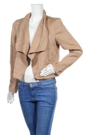 Дамско сако Diana Ferrari, Размер L, Цвят Бежов, Тенсел, Цена 14,28лв.