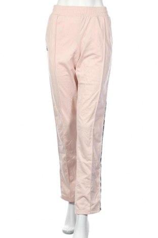 Дамско спортно долнище Kappa, Размер L, Цвят Розов, Полиестер, Цена 23,94лв.
