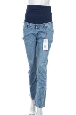 Дънки за бременни Forever Fit, Размер M, Цвят Син, 98% памук, 2% еластан, Цена 66,75лв.