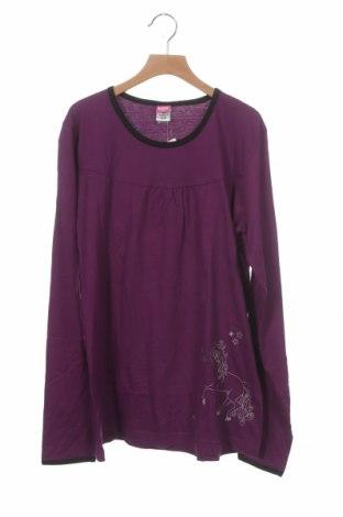 Детска блуза Kids, Размер 15-18y/ 170-176 см, Цвят Лилав, Памук, Цена 7,35лв.
