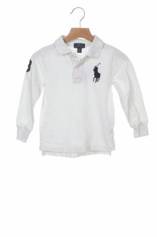 Dziecięca bluzka Polo By Ralph Lauren, Rozmiar 2-3m/ 56-62 cm, Kolor Biały, Bawełna, Cena 72,00zł