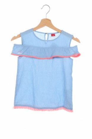 Детска блуза S.Oliver, Размер 8-9y/ 134-140 см, Цвят Син, Памук, Цена 7,20лв.