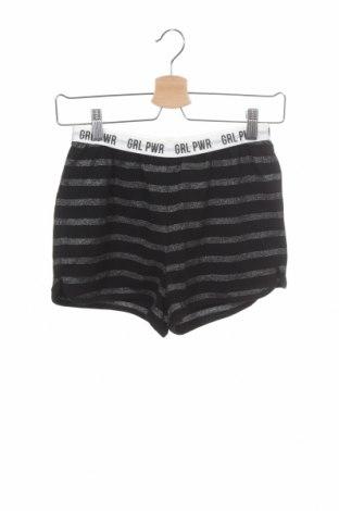 Pijama pentru copii Sanetta, Mărime 12-13y/ 158-164 cm, Culoare Negru, 92% bumbac, 5% elastan, 3% fire din metal, Preț 21,05 Lei