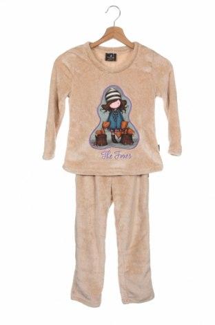 Pijama pentru copii Santoro London, Mărime 5-6y/ 116-122 cm, Culoare Bej, Poliester, Preț 149,90 Lei