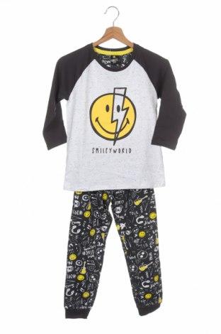 Pijama pentru copii Smiley World, Mărime 7-8y/ 128-134 cm, Culoare Multicolor, Bumbac, poliester, Preț 112,83 Lei