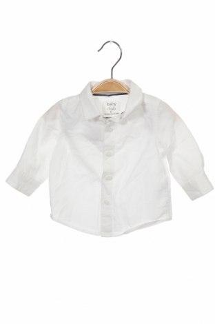 Детска риза Baby Club, Размер 2-3m/ 56-62 см, Цвят Бял, Памук, Цена 9,00лв.