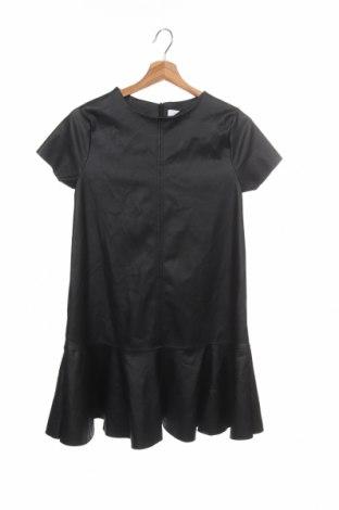 Детска рокля Zara Kids, Размер 13-14y/ 164-168 см, Цвят Черен, Еко кожа, Цена 15,40лв.