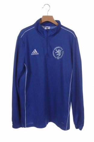 Детска спортна блуза Adidas, Размер 13-14y/ 164-168 см, Цвят Син, Полиестер, Цена 7,09лв.