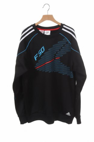 Детска спортна блуза Adidas, Размер 15-18y/ 170-176 см, Цвят Черен, Полиестер, Цена 17,96лв.