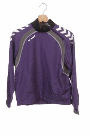 Детска спортна блуза Hummel, Размер 11-12y/ 152-158 см, Цвят Лилав, Полиестер, Цена 5,78лв.