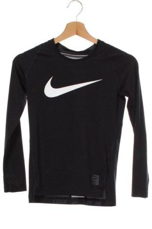 Bluză sport pentru copii Nike, Mărime 11-12y/ 152-158 cm, Culoare Negru, 92% poliester, 8% elastan, Preț 86,21 Lei