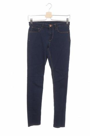 Dziecięce jeansy H&M, Rozmiar 13-14y/ 164-168 cm, Kolor Niebieski, 60% bawełna, 38% poliester, 2% elastyna, Cena 26,40zł