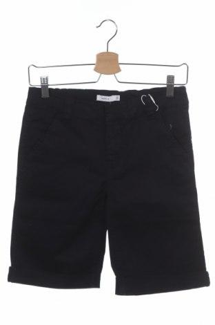 Детски къс панталон Name It, Размер 13-14y/ 164-168 см, Цвят Син, 98% памук, 2% еластан, Цена 13,32лв.