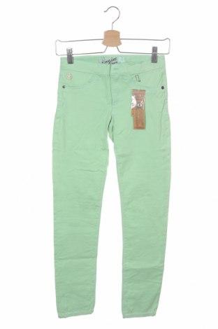 Детски панталон Vingino, Размер 11-12y/ 152-158 см, Цвят Зелен, 81% памук, 17% полиестер, 2% еластан, Цена 31,05лв.