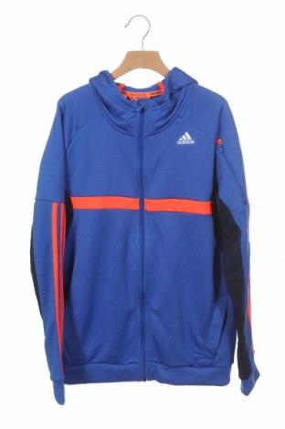 Hanorac pentru copii Adidas, Mărime 13-14y/ 164-168 cm, Culoare Albastru, Poliester, Preț 95,50 Lei