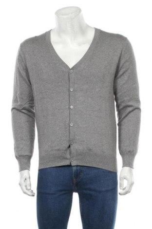 Jachetă tricotată de bărbați Essentials by Tchibo, Mărime M, Culoare Gri, 90% bumbac, 10% merinos, Preț 25,86 Lei