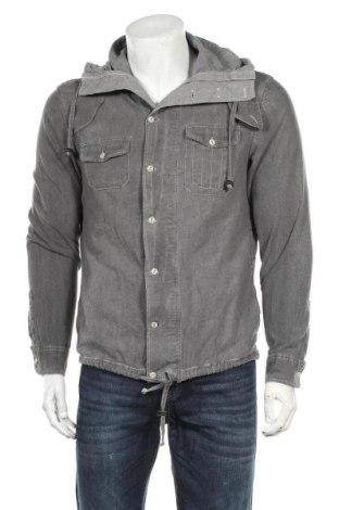 Мъжка риза AllSaints, Размер M, Цвят Сив, 93% памук, 7% еластан, Цена 17,85лв.