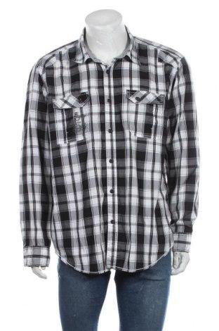 Мъжка риза Angelo Litrico, Размер XXL, Цвят Черен, 60% памук, 40% полиестер, Цена 12,50лв.