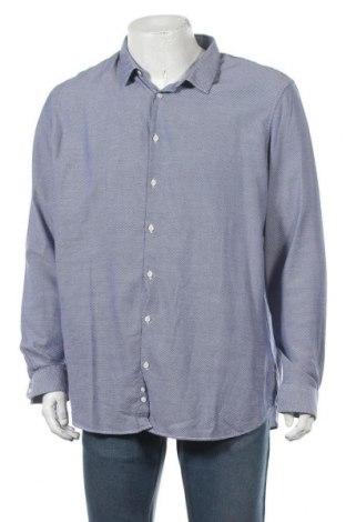 Мъжка риза Angelo Litrico, Размер XXL, Цвят Син, Памук, Цена 13,23лв.