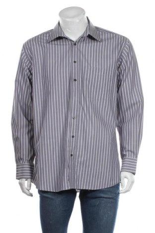 Мъжка риза Angelo Litrico, Размер L, Цвят Сив, Памук, Цена 4,73лв.