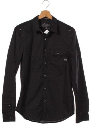 Мъжка риза Angelo Litrico, Размер S, Цвят Черен, 65% полиестер, 35% памук, Цена 8,51лв.
