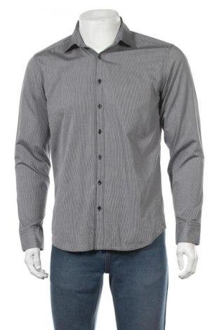 Мъжка риза Angelo Litrico, Размер M, Цвят Сив, Памук, Цена 4,73лв.