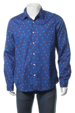 Ανδρικό πουκάμισο Angelo Litrico, Μέγεθος L, Χρώμα Μπλέ, Βαμβάκι, Τιμή 12,34€