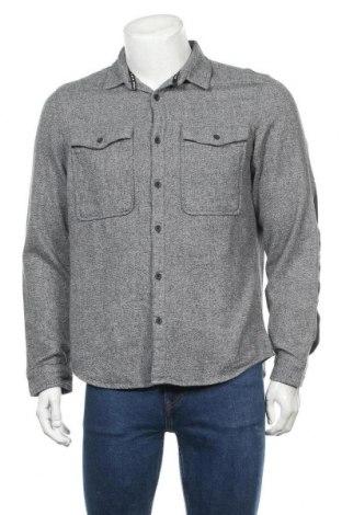 Мъжка риза Angelo Litrico, Размер L, Цвят Сив, Памук, Цена 4,46лв.