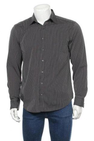 Мъжка риза Angelo Litrico, Размер M, Цвят Черен, Памук, Цена 8,75лв.