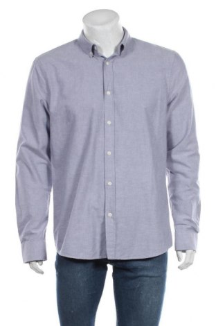 Мъжка риза Armedangels, Размер L, Цвят Син, Памук, Цена 22,25лв.