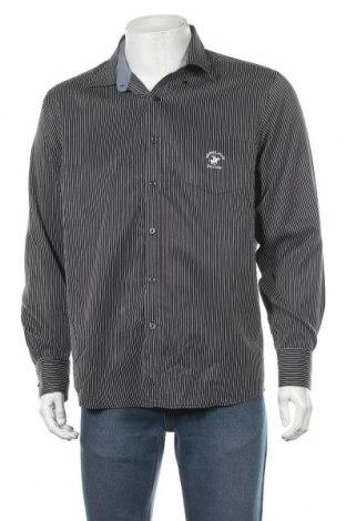 Ανδρικό πουκάμισο Beverly Hills Polo Club, Μέγεθος XL, Χρώμα Μαύρο, Τιμή 11,69€