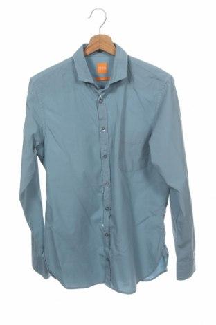 Мъжка риза Boss Orange, Размер S, Цвят Син, Памук, Цена 103,05лв.
