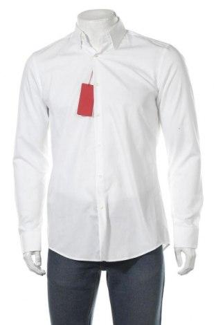 Ανδρικό πουκάμισο Hugo Boss, Μέγεθος M, Χρώμα Λευκό, 100% βαμβάκι, Τιμή 33,05€