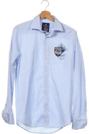 Мъжка риза Jimmy Sanders, Размер S, Цвят Син, Памук, Цена 31,15лв.