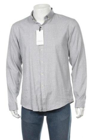 Мъжка риза Lindbergh, Размер L, Цвят Сив, 98% памук, 2% еластан, Цена 27,65лв.