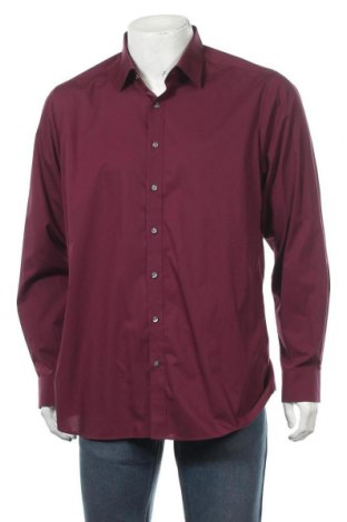 Мъжка риза Olymp, Размер XL, Цвят Червен, 97% памук, 3% еластан, Цена 17,01лв.