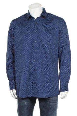 Мъжка риза Olymp, Размер XL, Цвят Син, 97% памук, 3% еластан, Цена 35,55лв.