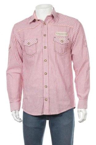 Мъжка риза Os Trachten, Размер S, Цвят Розов, Памук, Цена 18,20лв.