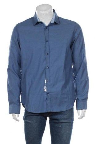 Мъжка риза Paul Hunter, Размер L, Цвят Син, Памук, Цена 34,65лв.