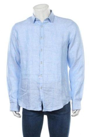 Pánská košile  Paul Hunter, Velikost M, Barva Modrá, Len, Cena  1168,00Kč