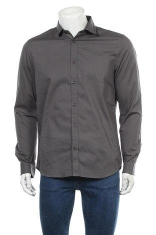 Мъжка риза Petrol Industries, Размер L, Цвят Сив, 97% памук, 3% еластан, Цена 20,65лв.