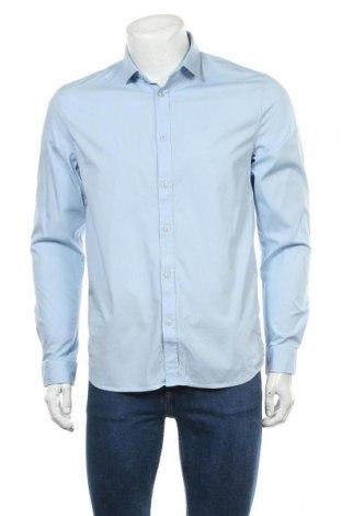 Мъжка риза Petrol Industries, Размер L, Цвят Син, 97% памук, 3% еластан, Цена 20,65лв.