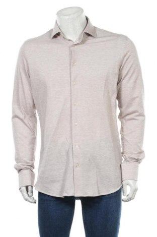 Мъжка риза Profuomo, Размер L, Цвят Бежов, Памук, Цена 26,60лв.