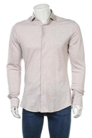 Мъжка риза Profuomo, Размер M, Цвят Бежов, Памук, Цена 14,06лв.