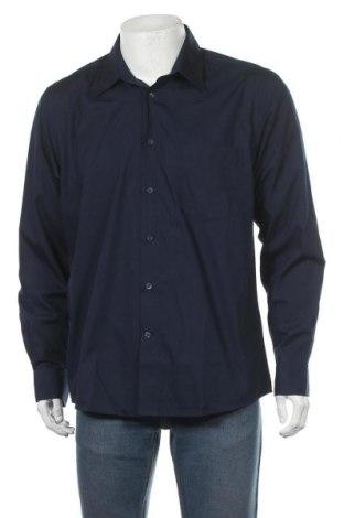 Мъжка риза Royal Class, Размер L, Цвят Син, 55% памук, 45% полиестер, Цена 18,27лв.