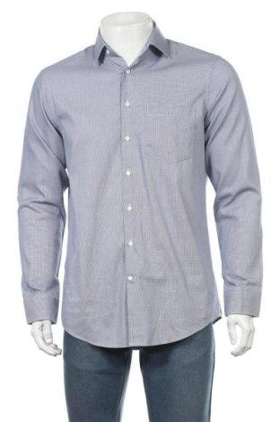 Мъжка риза Seidensticker, Размер M, Цвят Син, Памук, Цена 25,90лв.