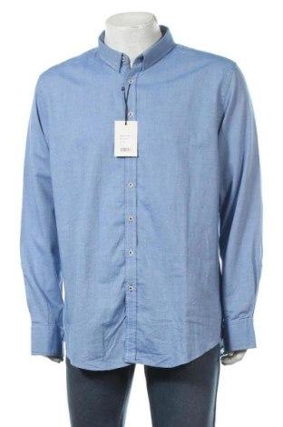 Мъжка риза Sondag & Sons, Размер XXL, Цвят Син, Памук, Цена 21,70лв.