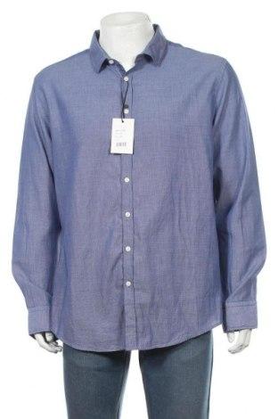 Мъжка риза Sondag & Sons, Размер XXL, Цвят Син, Памук, Цена 24,15лв.