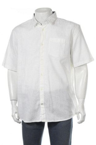 Мъжка риза Tom Tailor, Размер XXL, Цвят Бял, 55% лен, 45% памук, Цена 12,18лв.